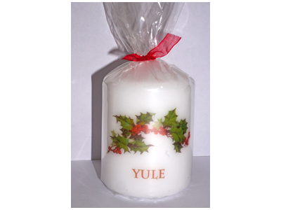 Yule 8cm Candle NEW SIZE - see description